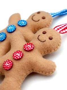 Max can help make these:)  Gingerbread Men Ornaments - could be bears or anything - like the vintage one Kristen has from her Great Grandmother