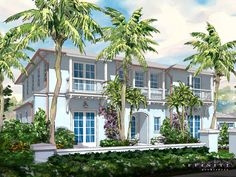 Plantation Road new Island inspired home rendering.