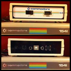 C64 DTV in Custom Enclosure (Front/Back) with Commodore 1541 Floppy Drive