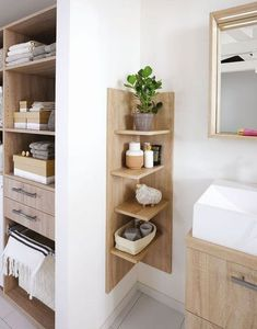 Create a small bathroom: the 10 good ideas for sewing - Côté Ma . Create a small bathroom: The 10 good ideas for sewing - Côté Ma . - Create a small bathroom: The 10 good ideas for sewing - Côté Ma… - - # Côté Bad Inspiration, Bathroom Inspiration, Budget Bathroom, Bathroom Interior, Master Bathroom, Bathroom Ideas, Ideas For Small Bathrooms, Serene Bathroom, Tiny Bathrooms