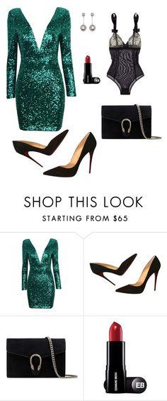 """Karnawał"" by mkosiak on Polyvore featuring moda, Christian Louboutin, Gucci i STELLA McCARTNEY"