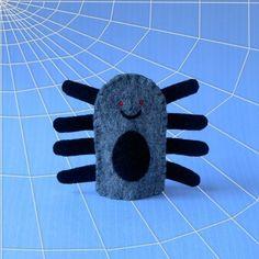 felt bug finger puppet