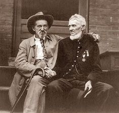 Gettysburg reunion - 1913.  Although they are shaking hands for the photo, you have to wonder how they really feel.