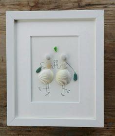 Pebble art friends, Pebble art girls shells, friendiship gift,  home decor, unique friends gift, birhtday girls gift, holodays friends gift
