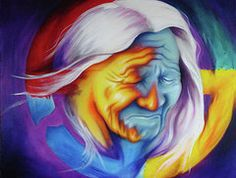Native American Paintings - Broken Circle by Robert Martinez