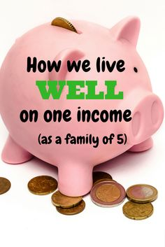 How we live as a family of 5 on one income and still thrive and you can too! Check out: www.onlygirl4boyz.com for more frugal living tips.