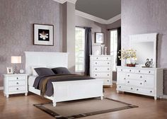 Merivale Cottage Bedroom Set in White