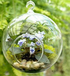 TERRARIUM  Woodland globe terrarium with African by dirtcouture