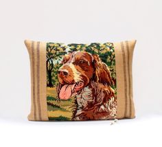 French Vintage Silks Needlepoint Tapestry Spaniel by Retrocollects £45 https://www.etsy.com/shop/Retrocollects