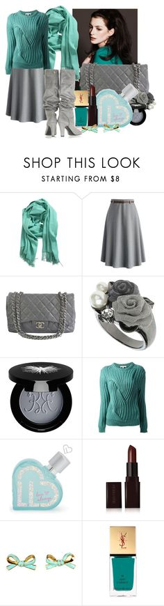 """""""Tea(l)ing Up My Heart"""" by i-love-shoes ❤ liked on Polyvore featuring Chicnova Fashion, Chicwish, Chanel, Dorothy Perkins, Rouge Bunny Rouge, Carven, Aéropostale, Laura Mercier, Kate Spade and Yves Saint Laurent"""