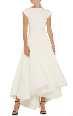 Maticevski White Polarized A Line Gown