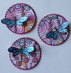 Art Journal Pages, Junk Journal, Diy And Crafts, Paper Crafts, Coin Art, Affirmation Cards, Rolodex, Atc Cards, Candy Cards