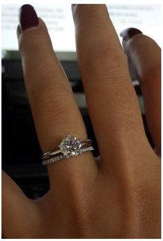 Thin Wedding Bands, Stacked Wedding Rings, Wedding Rings Simple, Wedding Band Sets, Diamond Wedding Bands, Tattoo Wedding Bands, Bridal Ring Sets, Cute Engagement Rings, Engagement Bands