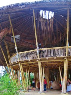 The Green School, #Bali, the whole campus made from #bamboo. #sustainableconstruction