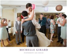 June Wedding at the Country Club of Pittsfield in Massachusetts :: Berkshire Wedding :: Fun photo of the Bride and Groom on the dance floor at their reception :: Michelle Girard Photography and Design