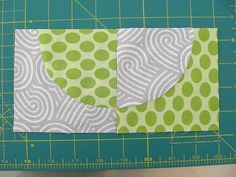 great tutorial- for making drunkard's path blocks, sewing curves w/o pins & squaring up to align circle