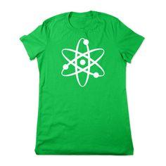 Funny Shirt Geeky Shirt Science Tshirt Atom Tshirt Funny Science Shirt... ($16) ❤ liked on Polyvore featuring tops, t-shirts, black, women's clothing, black crop top, v-neck t-shirt, v-neck shirts, henley shirt and black shirt