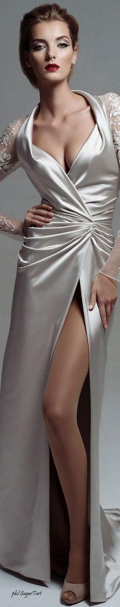 White Satin dress #Luxurydotcom