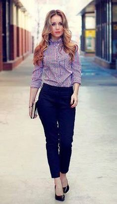 trousers+tailored shirt+ loafers