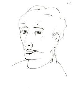 Italo Valenti (IT, 1912-1995) - Autoritratto - 1944-1950 - disegno - Forlì, Palazzo Romagnoli - Collezioni del Novecento