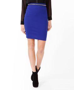 Love the color! Knee Length Bodycon Skirt