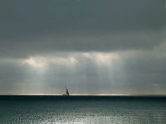 storm over sea with sailboat - Google Search