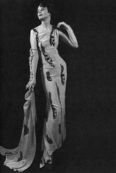 "Elsa Schiaparelli ""Tears"" Dress, Circus Collection, February 1938  (Collaboration with Salvador Dalí)"