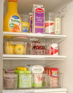 Organization Refrigerator Makeover.