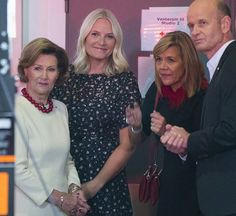 23-10-2016-Queen Sonja of Norway and Crown Princess Mette-Marit atttend NRK Telethon 2016 charity event