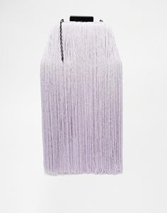 ASOS Box Clutch with Fringing