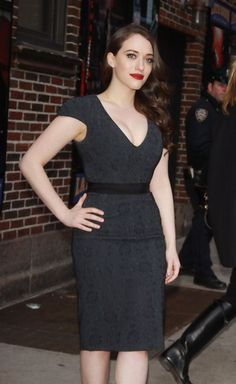 Kat Dennings at David Letterman