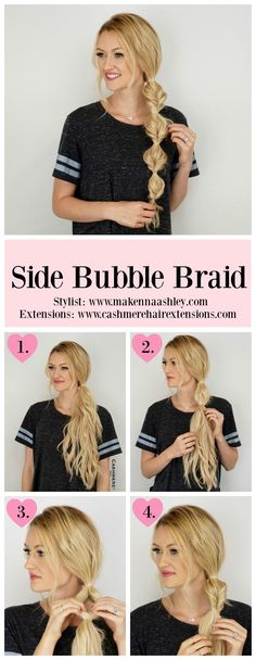 Side Bubble Braid - Looking for Hair Extensions to refresh your hair look instantly? @KingHair focus on offering premium quality remy clip in hair.