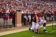 "Barrett Jones, an All-American for Missions ""If I'm known as Barrett Jones — he's a great Alabama football player — then I'm not doing my job. I want to be known as Barrett Jones — he's a Christian who happens to play football — not a football player who happens to be a Christian.""  Character, folks!  That's what it looks like!"