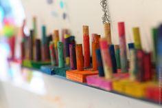 wooden dowell sculptures  |  www.small hands big art.com  #artprojectsforkids #smallhandsbigart