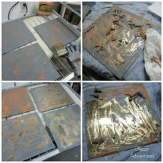 How to Antique Mirror Using Paint Stripper and Bleach