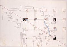 Eisenmann, project for Cannaregio, Venice 1978. From ArchDaily