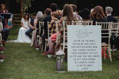 Best Ways to Politely tell your Wedding Guests you have a Photographer. Check out these Unplugged Wedding Sign Ideas Saying No Phones or cameras! Wedding Planning Tips, Wedding Tips, Wedding Planner, Wedding Photos, Wedding Stuff, Tipi Wedding, Free Wedding, Wedding Signage, Perfect Wedding