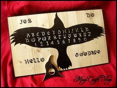 Ouija Board Crow with planchette  wicca exorcism by magicraftshop, €45.00