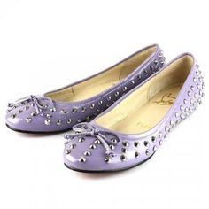 Cheap Christian Louboutin Big Kiss Studded Flats Purple Sale : Christian Louboutin$187.87