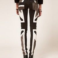 Religion Skinny Jeans With Union Jack. Yes and yes