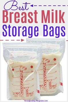 Keep breast milk storage bags on hand if you're going to create a breast milk stash in your freezer, These are our what moms shared as their favorites! Breastfeeding Accessories, Breastfeeding Tips, Labor Day Crafts, Breastmilk Storage Bags, Baby Food Recipes, Bag Storage, New Baby Products, Freezer