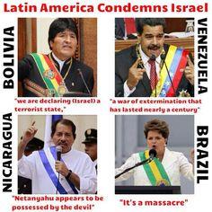 You know it Latin America! Thank you! #standup4palestine #freepalestine
