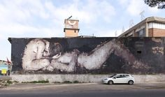 StreetArt Roma: Piedad | Borondo | 2013 | Zona: Tor Sapienza | #art #streetart #roma