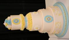 """Yellow and Blue cake from """"That Takes the Cake"""" contest in Austin, TX Feb 25-26, 2012"""