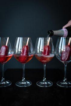 trickytine: himbeerlimes & rosenwasser popsicles auf rosésekt - oder: blogbirthday kaltgetränke für meine foodistas