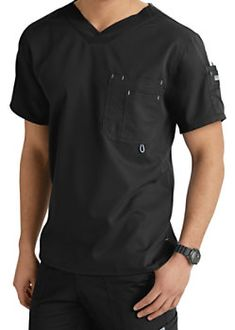 Grey's Anatomy Men's 3 Pocket High V-neck Scrub Tops - Bahama - This Greys Anatomy mens scrub top is made from the arcLux super soft… Scrubs Outfit, Scrubs Uniform, Men In Uniform, Greys Anatomy Men, Greys Anatomy Scrubs, Grey's Anatomy, Scrub Suit Design, Dental Shirts