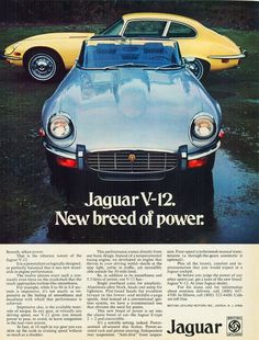 1973 Car Advertisements | 1962 jaguar xk e ad 1986 jaguar xjs coupe ad