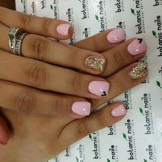 Pink trendy nails