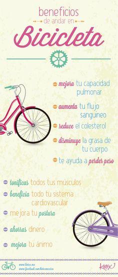 Una dieta equilibrada debe ir acompañada de actividad física. En andar en bicicleta es una de las opciones recomendadas.