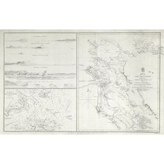 1827 San Francisco Harbor Nautical Map (9.425 RUB) ❤ liked on Polyvore featuring home, home decor, wall art, prints, san francisco wall art, map wall art, nautical wall art, nautical theme home decor and nautical home decor